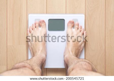 Scale / Weighing machine - stock photo