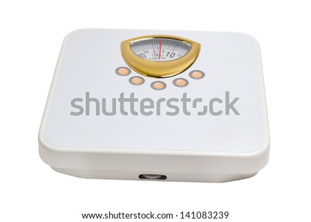 scales foot health sport isolated on white background clipping path - stock photo
