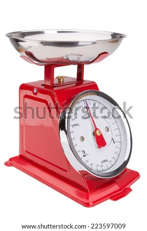 Scales for food. Balance classic. - stock photo