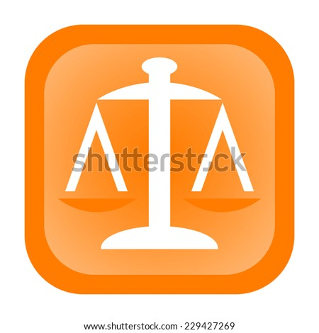 Scales icon - stock photo