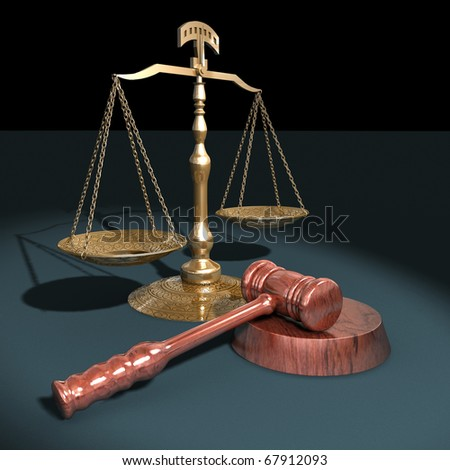 Scales of justice - stock photo