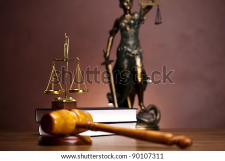 Scales of Justice and Law - stock photo