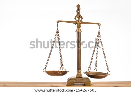 scales of justice isolated  - stock photo