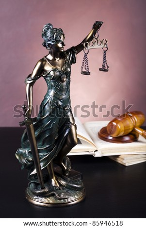 Scales of Justice, Law - stock photo