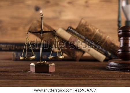 scales of justice, law concept - stock photo