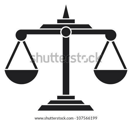 scales of justice symbol - stock photo