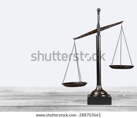 Scales of Justice, Weight Scale, Balance. - stock photo