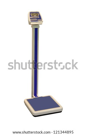 scales under the white background - stock photo