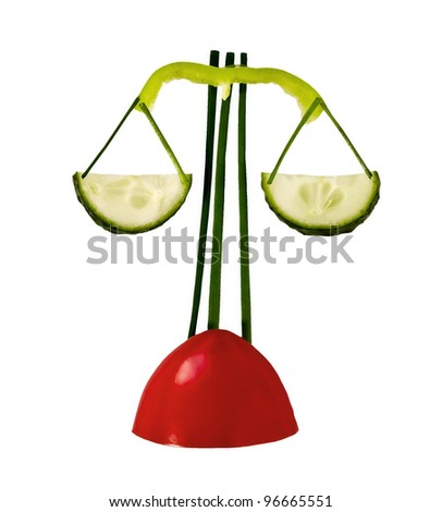 Scales vegetables - stock photo