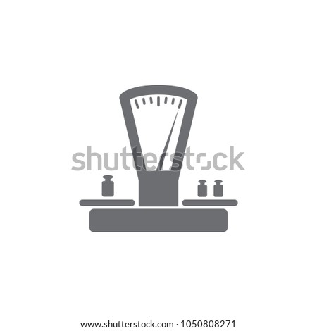 Scales Weights Icon Simple Element Illustration Stock Illustration ...