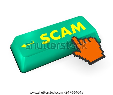 Scam Computer Keys Showing Swindles And Fraud - stock photo