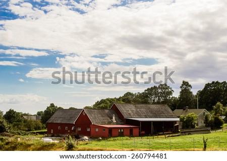 Scandinavia house in Sweden - stock photo