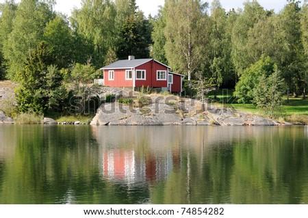Scandinavia, Sweden traditional architecture - stock photo