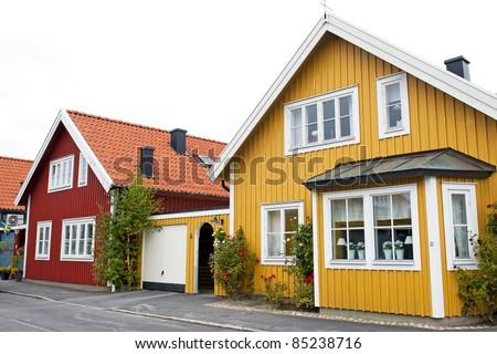 Scandinavian architecture - stock photo