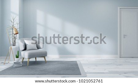 Scandinavian Interior Living Room Concept Light Stock Illustration