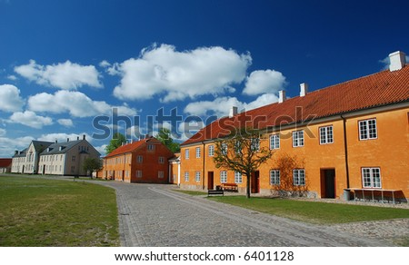 scandinavian landscape - stock photo