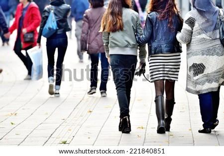 Scandinavian pedestrians - stock photo