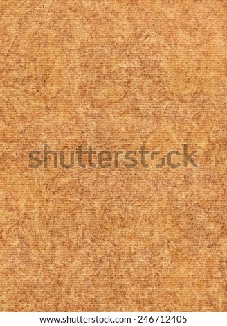 Scanned image of Corrugated Striped Recycle Cardboard, rough, coarse grain, grunge texture sample. - stock photo