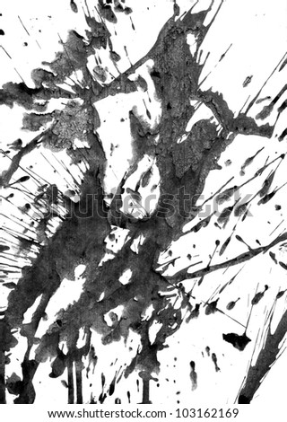scanned ink stain - stock photo