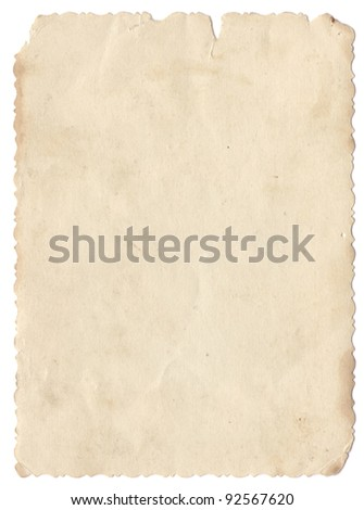 Scanned Vintage photo card. Maximum DPI. - stock photo