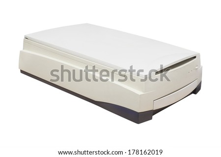 Scanner isolated under the white background