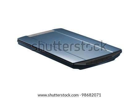 Scanner on white background - stock photo