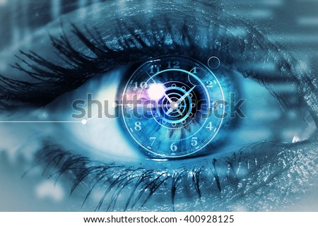 Scanning for personality identification - stock photo