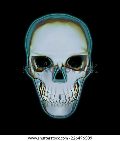Scanning the skull - stock photo