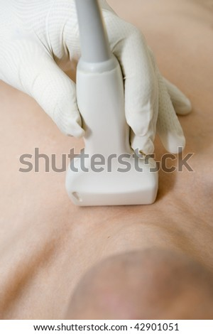 Scanning with ultrasound - stock photo