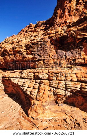 scant vegetation king Canyon Northern Territory Australia - stock photo