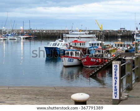 SCARBOROUGH, NORTH YORKSHIRE,ENGLAND 25 JULY 2015                                        Boats in Scarborough harbour on 25th July 2015, Scarborough, North Yorkshire, England