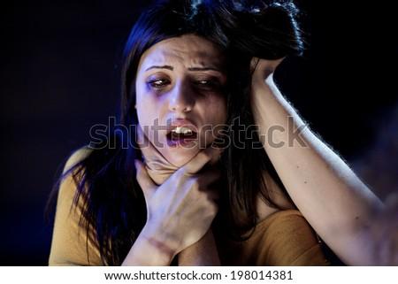 women suffering