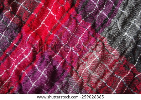 Scarf closeup as natural canvas or background. - stock photo