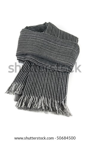 Scarf isolated on a white background - stock photo
