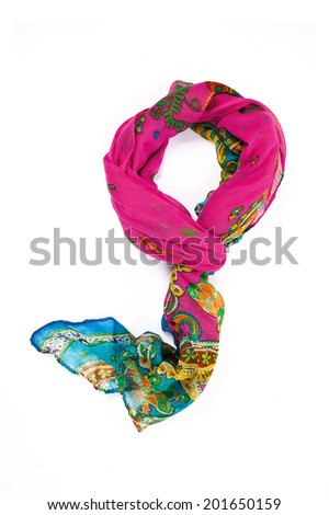 scarf isolated on white - stock photo