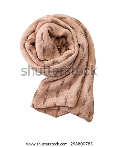 scarf isolated on white. with a clipping path. - stock photo