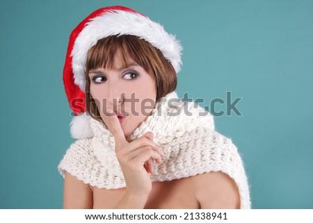 scarf santaclaus - stock photo