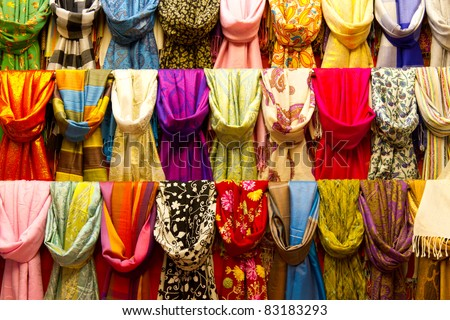 Scarfs - stock photo