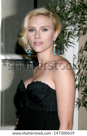 "Scarlett Johansson at the ""Elle"" Hosts the Women in Hollywood 14th Annual Event Four Seasons Hotel Beverly Hills,  CA October 15, 2007 - stock photo"