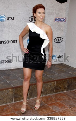 "Scarlett Johansson at the Spike TV's 5th Annual 2011 ""Guys Choice"" Awards held at the Sony Pictures Studios in Los Angeles, California, United States on June 4, 2011."
