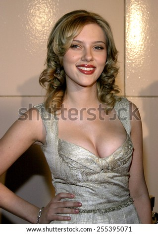 "Scarlett Johansson attends the Los Angeles Premiere of ""Match Point"" held at the LACMA in Los Angeles, California, United States on December 8, 2005.  - stock photo"