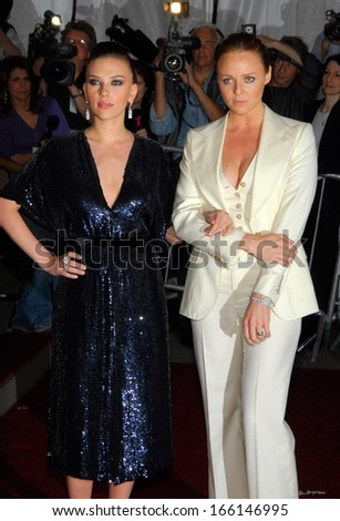Scarlett Johansson, Stella McCartney, in Stella McCartney designs, at AngloMania Tradition and Transgression in British Fashion Opening Gala, The Metropolitan Museum of Art, NY, May 01, 2006 - stock photo