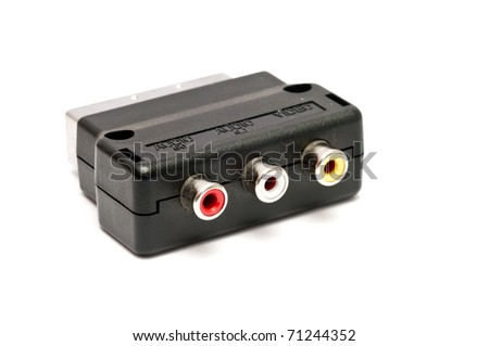 Scart Adapter - stock photo