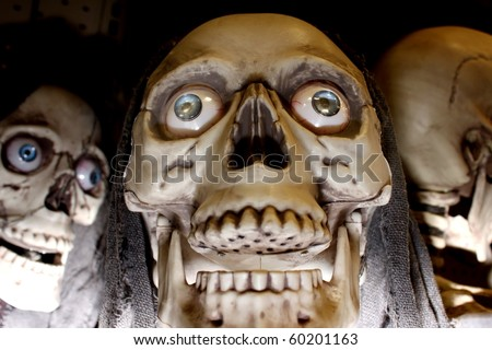 Scary face - stock photo
