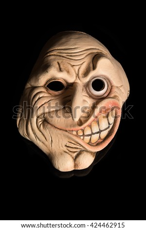Scary Face Mask isolated on Black Background