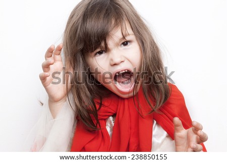 Scary girl - stock photo