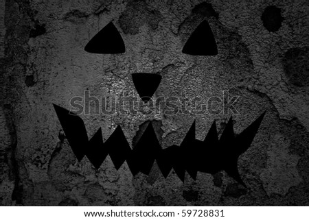 scary halloween background - stock photo