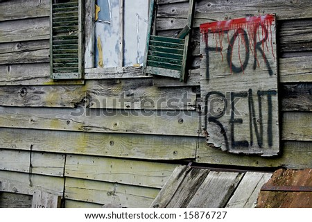 scary house for rent - stock photo