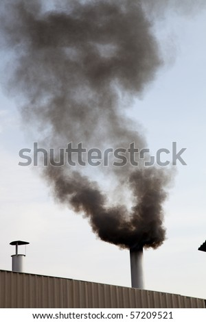 Scary Image of Power Plant - stock photo