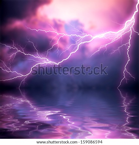 scary lightning over natural background stock photo royalty free